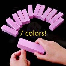 Profissional Prego Buffers Prego Bloco de Lixamento da Esponja Forma Lixa de Unhas Para Gel UV Prego Buffer Lixar Bloco Pedicure Nail Art ferramenta