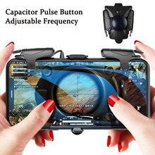 Pubg ゲームパッドトリガー第三ギア L1R1 容量パルスボタンゲームジョイスティック pubg コントローラサポート ios iphone の android 電話