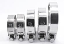 5pcs 304 Stainless Steel Heavy Duty Hose Clamp Clip Circular Pipe Clamp Air Water Tube Clips Water Pipe fasteners Fuel Clamps 10x stainless steel mini fuel hose clamp line pipe tube clips screw 8mm