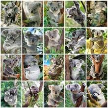 Evershine diamante pintura koala praça cheia diamante bordado animais ponto cruz kit mosaico strass presente do dia dos namorados