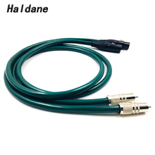 Haldane Pair Rhodium Plated RCA to XLR Female Balacned Interconnect Cable 3pin XLR to RCA Audio Cable with FURUTECH FA-220 free shipping ks 1011 xlr audio interconnect cable with rhodium plated xlr plug