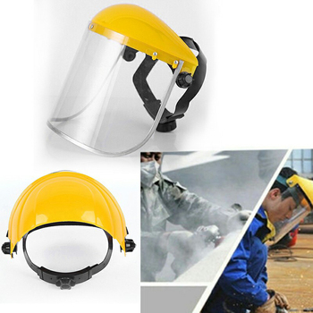 Welding Helmet Safety Protective Mask  Full Face Shield Cap Protective Mask Cover Outdoor Safety Anti Spray Hats Helmet welding helmet mask adjustable face shield head mounted arc welding cap protective helmet flat flip afety work welding helmet