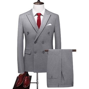 Mens Formal Double-Breasted Suits