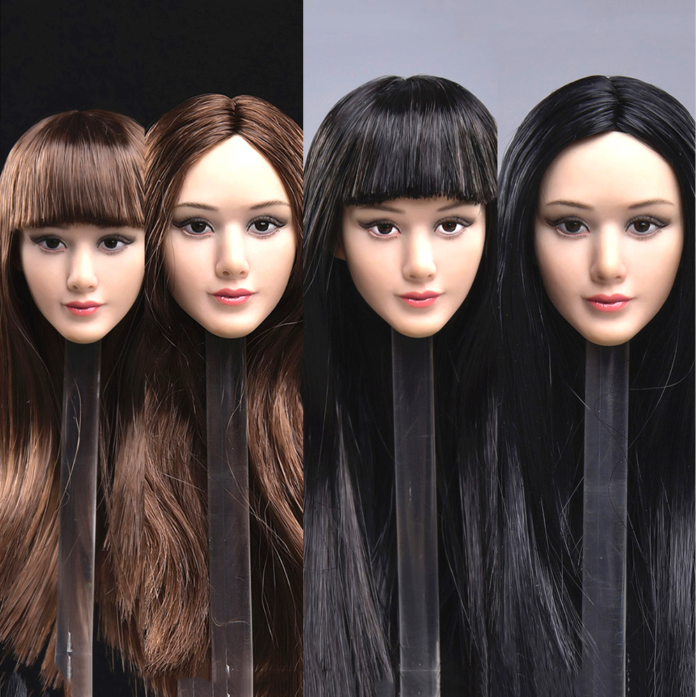 F 12/'/' Female Body JXTOYS JX-015 Asian Beauty Girl Head Sculpt Makeup Ver