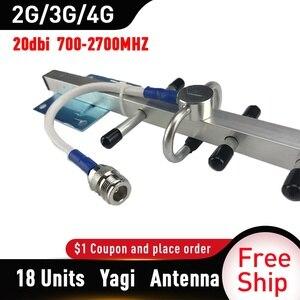 Image 4 - 2g 3g 4g אנטנה 20dBi רווח יאגי אנטנת 700 2700mhz 3G 4g Lte חיצוני יאגי אנטנה עם N נקבה
