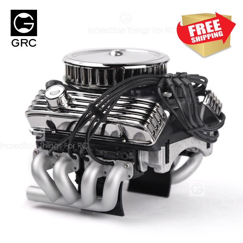TRX4 SCX10 RC4wd D90 VS4 классический V8 F82 имитация двигателя вентилятор радиатора 1/10 RC Гусеничный автомобиль Traxxas Redcat Gen8 обновление