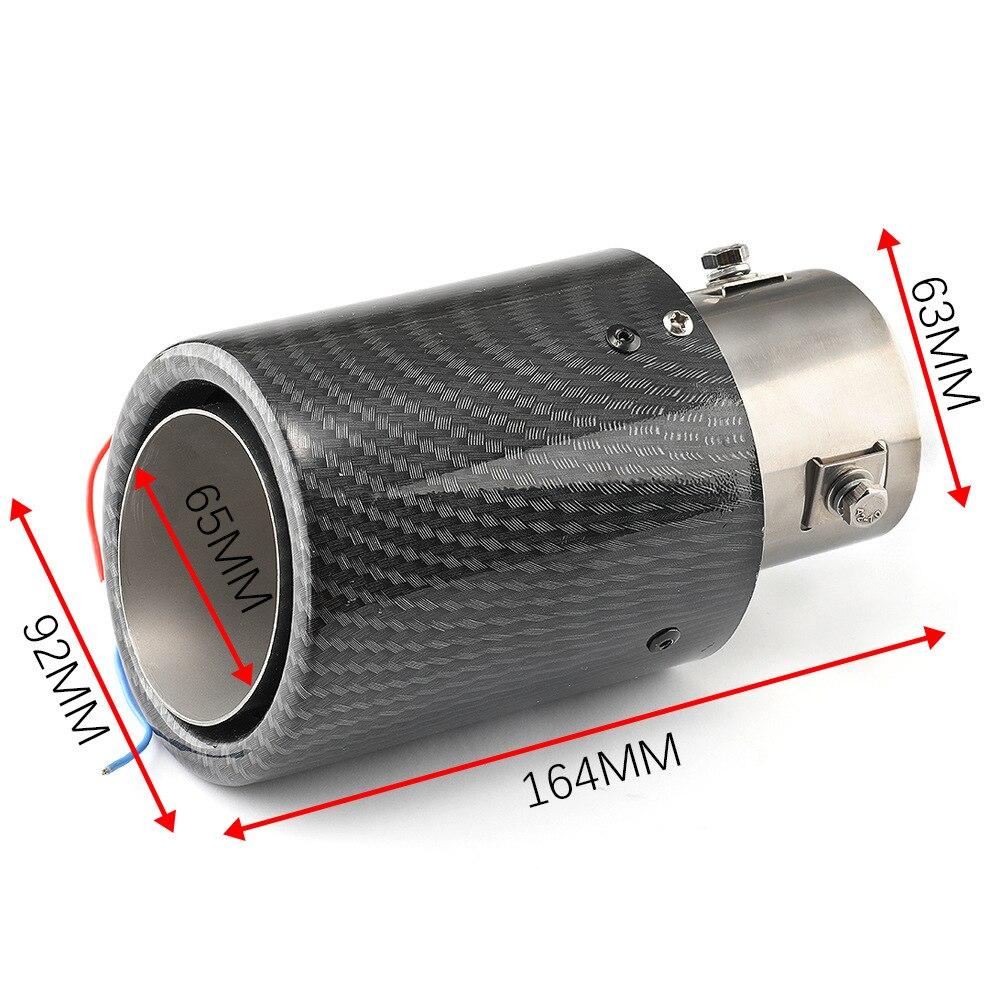 new car black exhaust tip nozzle muffler tip exhaust tips exhaust pipe car exhaust muffler exhaust cutout luminous