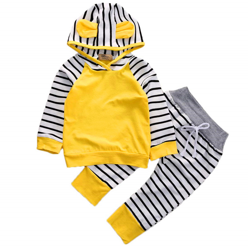Iindes Newborn Baby Boy Clothes 3PCS Boys Clothing Cute Set Romper Tops Hat Outfits Clothes 0-24 Months Long Pants