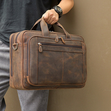 MAHEU Top Qaulity Brand Briefcase Bag For Men Male Business Bag Vintage Designer
