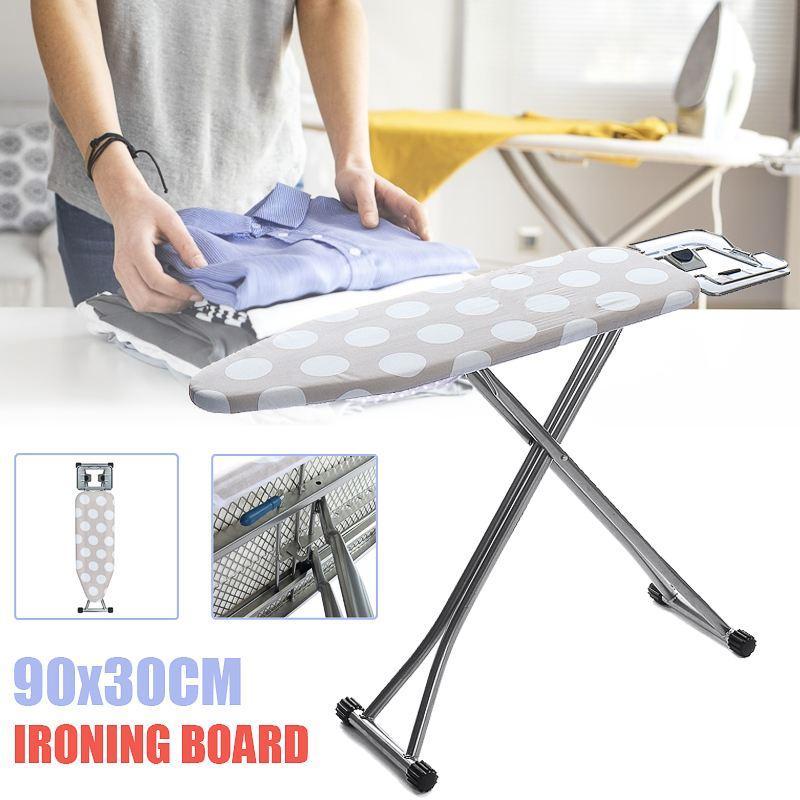 90X30cm planche à repasser pliable réglable coton Anti-brûlure couverture fer porte-vêtement Durable réutilisable épais rembourré Machine