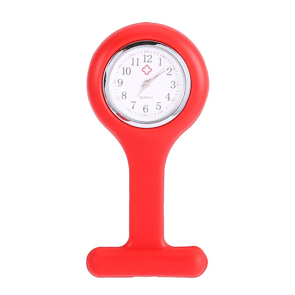 1Pcs Mini Portable Silicone Doctor Nurses Pocket Fob Watch Multiple Colors Brooch Pin Pendant 5 Colors Fashion Drop Shipping