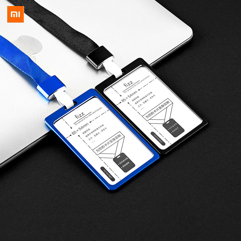 Xiaomi Youpin Fizz Aluminum Alloy Card Holder Work Card Access Card Bus Card Holder Badge Vertical Lanyard Badge Protector