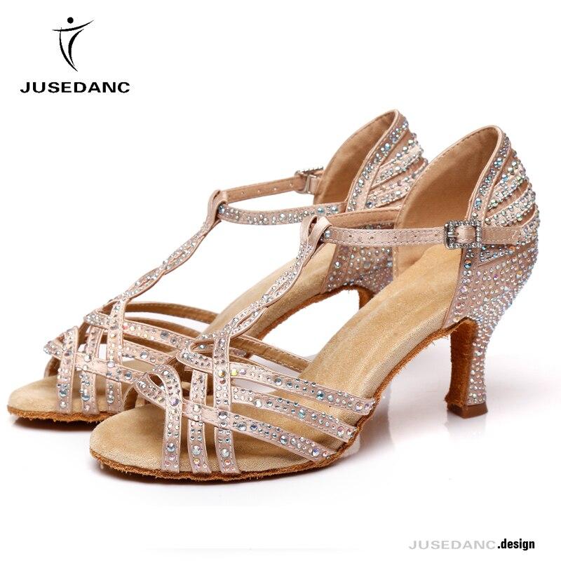 ZIYOU Damen Tanzen Halbschuhe Singles Schuhe f/ür Rumba Waltz Prom Ballroom Latin Balletttanz Westernabsatz Espadrilles
