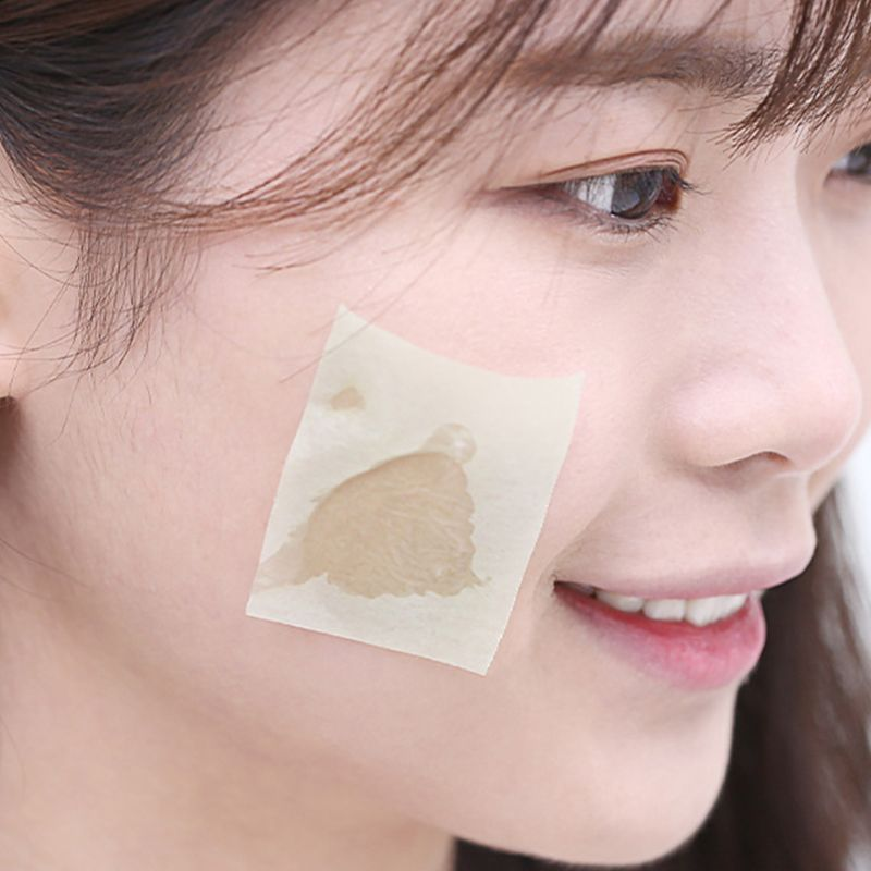 Portable Facial Absorbent Paper Wipes Oil Control Face Cleanser Green Tea Rose Lavender With Mirror Men Women