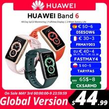 20$-12 OFF New user [World premiere] em estoque versão global huawei banda 6 smartband oxigênio no sangue 1.47 amamamoled monitor de freqüência cardíaca monitoramento do sono
