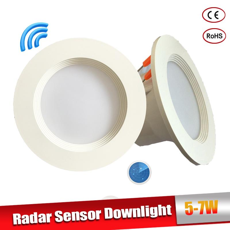 Radar Motion Sensor LED Downlight 5W 7W Recessed Ceiling Lamp 110/220V Led Bulb for living room passage Indoor Led Spot Lamp