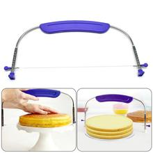 commercial dining hall cake storebakery equipment bread pizza dough sheeter machine free shipping 220v 380v 50hz 9 Adjustable Heights Stainless Steel Wire Bread Cake Cutter Pizza Dough Slicers Bakeware Leveler Cake Knife Kitchen Accessories