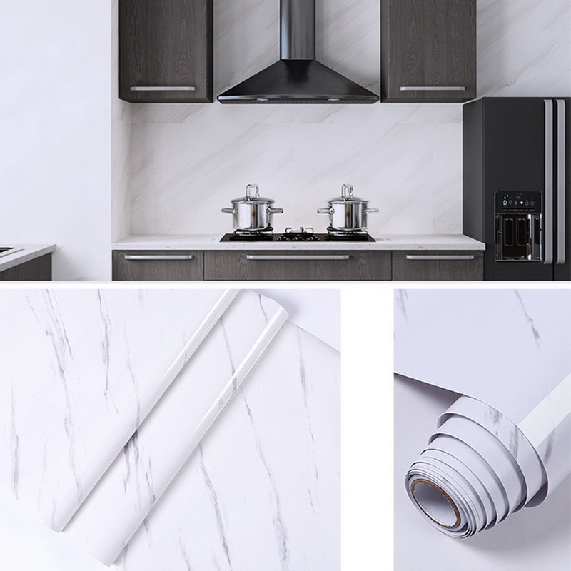 Marble Paper Self Adhesive Decorative Counter Stickers Waterproof Oilproof Peel And Stick Wallpaper  For Bedroom Background