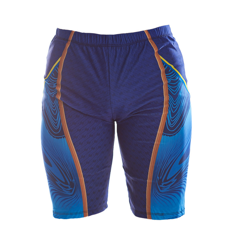 Short Swimming Trunks Summer Fashion MEN'S Swimming Trunks Beach Sports Printed Tight Ultra-stretch Swimming Trunks Men's