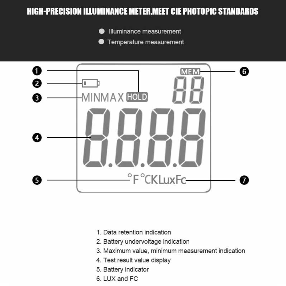 Maison En Bois Pour 100000 us $21.0 40% off|mestek lm610 illuminometer light meter 100,000 lux digital  luxmeter luminance lux fc test max min illuminometers photometer-in uv