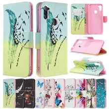 Leather Case For Samsung A01 A02S A10E A11 A12 A20S A21 A31 A51 A52 A70E A71 A72 A750 Colorful Cartoon Animal And Plant Patterns