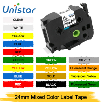 Unistar TZe-251 24mm Printer Ribbons Compatible with Brother P-touch Laminated Label Tapes Black on White TZ TZe 251 651 TZe-251 1