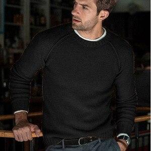 Image 3 - סתיו החורף מוצק סוודר גברים החדש מקרית Slim Fit Mens סרוג סוודרים נוחות O צוואר סריגי סוודרים גברים S 3XL למשוך Homme