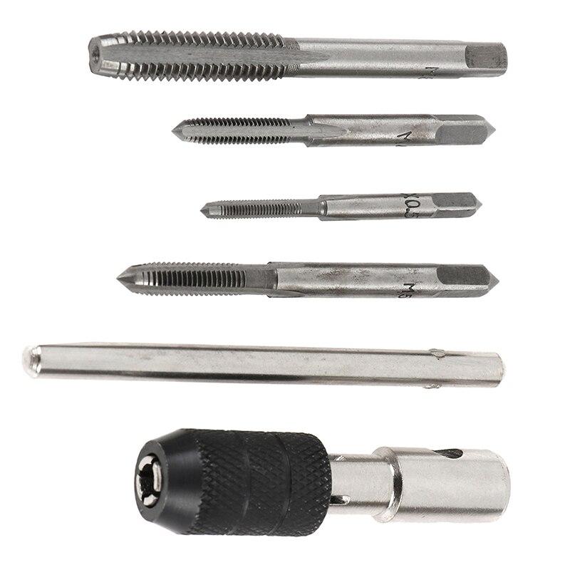 5Pcs/set T Type Hand Screw Thread Taps Drill Kit M3 M4 M5 M6 Set Wrench