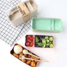 900 ml Microwave Lunch Box Wheat Straw Dinnerware Food Storage Container Children Kids School Office Portable Bento Box Kitchen 1100ml microwave lunch box wheat straw dinnerware food storage container children school office portable bento box kitchen tools