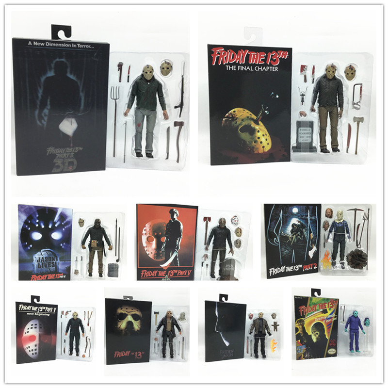 18 CENTIMETRI NECA The 13th 3D Venerdì Parte Jason Freddy Video Gioco Voorhees Action Figure Model Toy Doll Regalo Di Natale