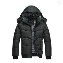 Mens Down Cotton Jacket Winter Parkas Hooded Coat Suit