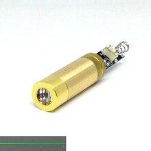 Промышленный латунь 5 мВт 532 нм зеленый лазер диод модуль линия луч DC3V светодиод фонари