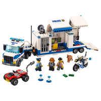 Mobile Command Center Compatible Legoe City Police 60139 Building Blocks Bricks Model toys for Childrens kid gift 398Pcs