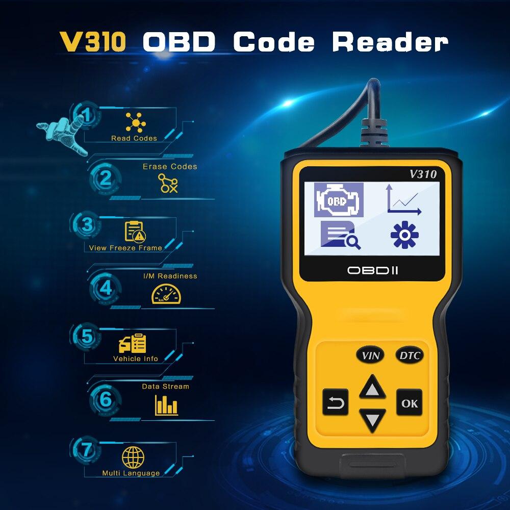High Quality diagnostic Tool for Car Viecar V310 Automotive Scanner Engine Code Reader Sensor OBD 2 automotivo Car Diagnostic