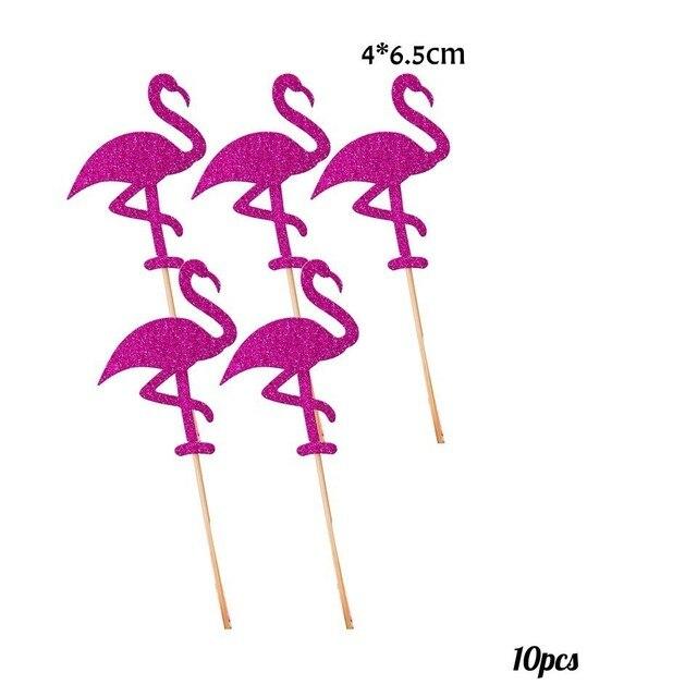 10pcs Bling flamingo