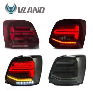 Задний фонарь VLAND s в сборе, для Volkswagen Polo 2011-2017, задний светильник, задний фонарь с поворотным сигналом, задний фонарь, светодиодный светильни...