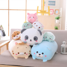 Cute Animal cushion Dinosaur Pig Cat Bear Plush Toy Soft Cartoon Panda Hamster Elephant Deer Stuffed Doll girl Pillow Gift