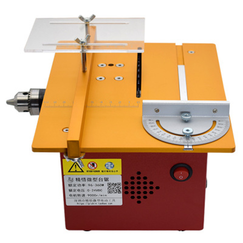 Micro Multi-function Table Saw DIY Small Chainsaw Desktop Cutting Machine Mini Slotted Woodworking Table Saw