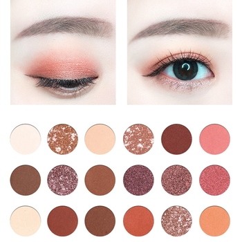 18 Colors Rose Red Pearlescent Matte Eye Shadow Pallete Beauty Makeup Cosmetic Nude Shining Eyeshadow Pearlescent Makeup tools 5