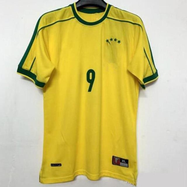 adults shirt 1998 Brasil retro Soccer Jerseys Home Romario Ronaldo Ronaldinho Custom Vintage 02 94 Home Shirt Football uniform