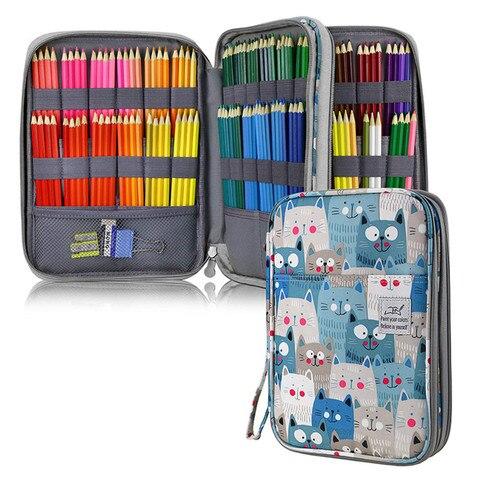 grande 192 buracos caixa de lapis para escola escritorio caneta bonito gato urso penal kawaii