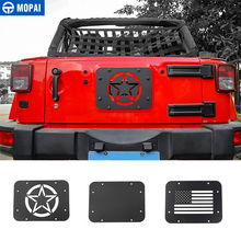 MOPAI Car License Plate Mount Tailgate Air Vent Decoration Cover for Jeep Wrangler JK 2007 2017 Car Accessories Styling