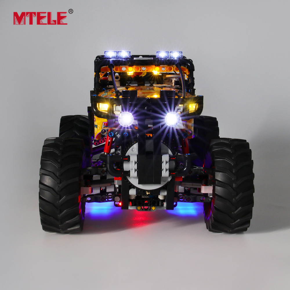 MTELE Brand LED Light Up Kit For 4X4 X-treme Off-Roader Toys Lighting Set Compatile With 42099