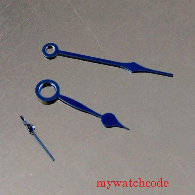 Fit Eta 6497 6498 Hand Winding Uurwerk Mannen Polshorloge Hand Blauw Kleur Horloge Accessoires