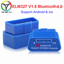Super Mini ELM327 V1.5 Bluetooth 4.0 OBD2 ELM 327 1.5 Diagnostic Tool Support Almost OBD-II Protocols For Android/Ios/PC/Torque(China)