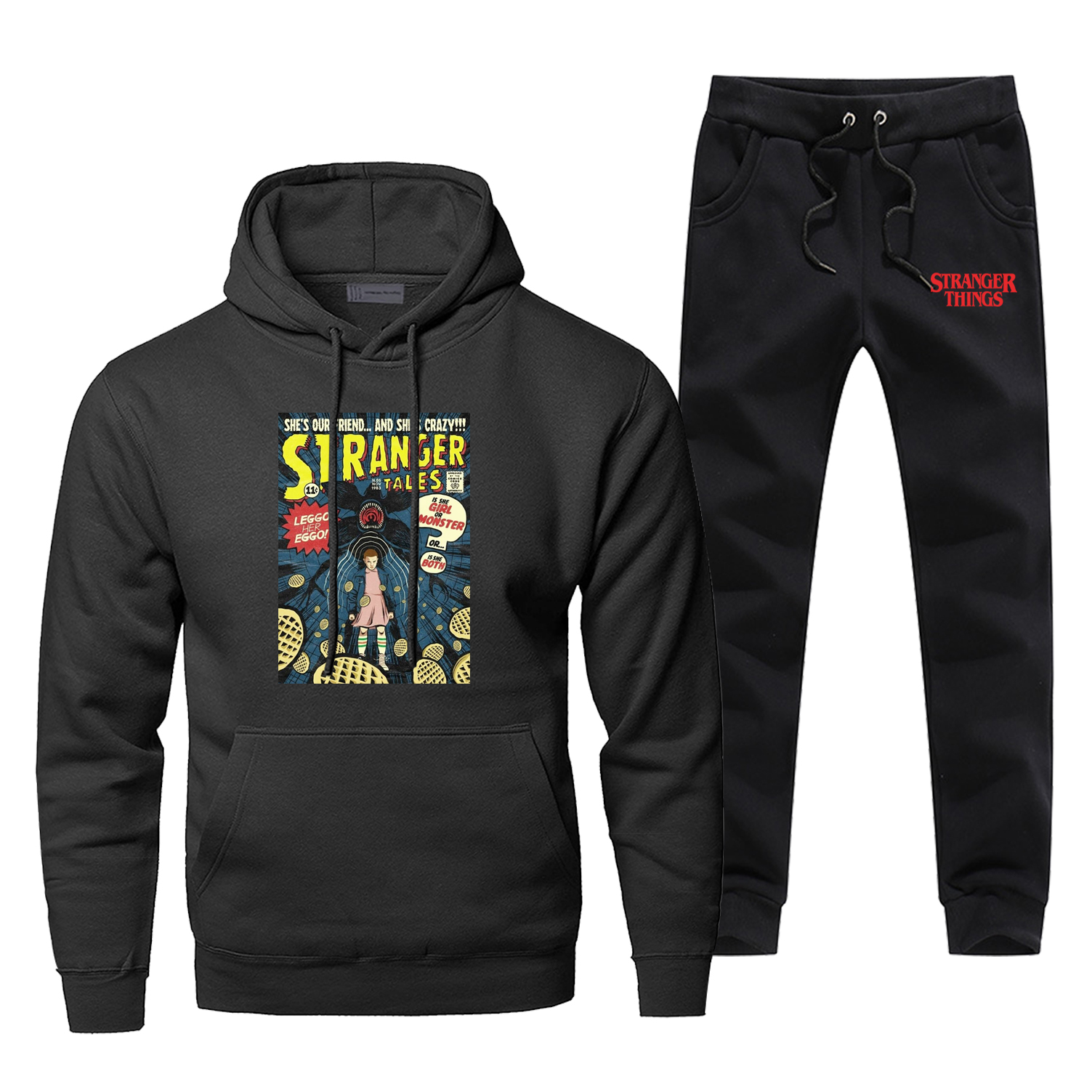 Stranger Things Hoodie Pants Set Men Horror Sweatshirt Male Hoodies Sweatshirts Mens Sets Two Piece Pant Pullover Hoody 2Pc Coat