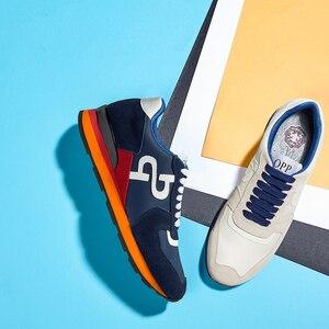 Image 3 - Мужские кроссовки из натуральной кожи, спортивная обувь, новинка 2020