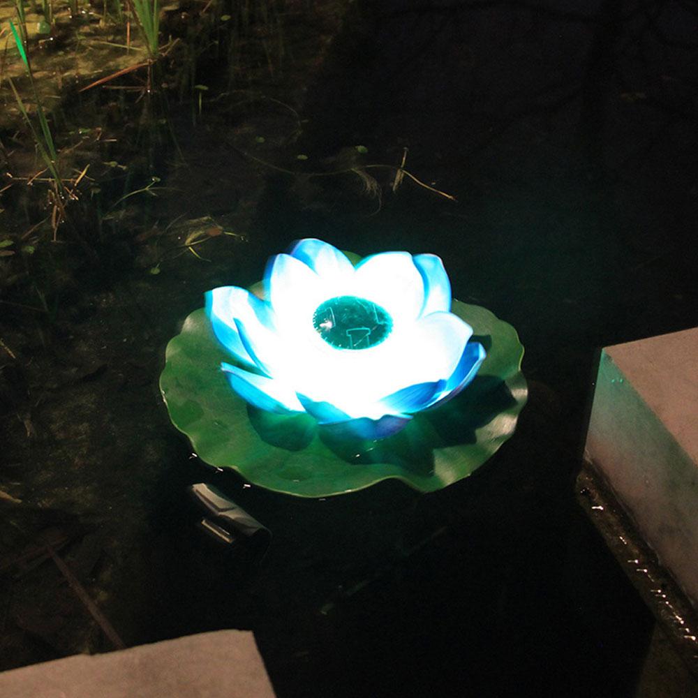 flutuador de água lótus luzes pátio ao