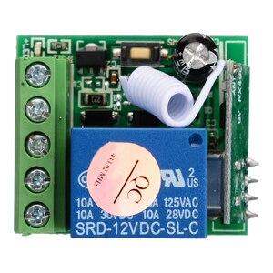 Image 2 - DC12V 10A bricolage sans fil relais télécommande commutateurs Module 1 canal récepteur sans fil relais RF 433MHz télécommande commutateur