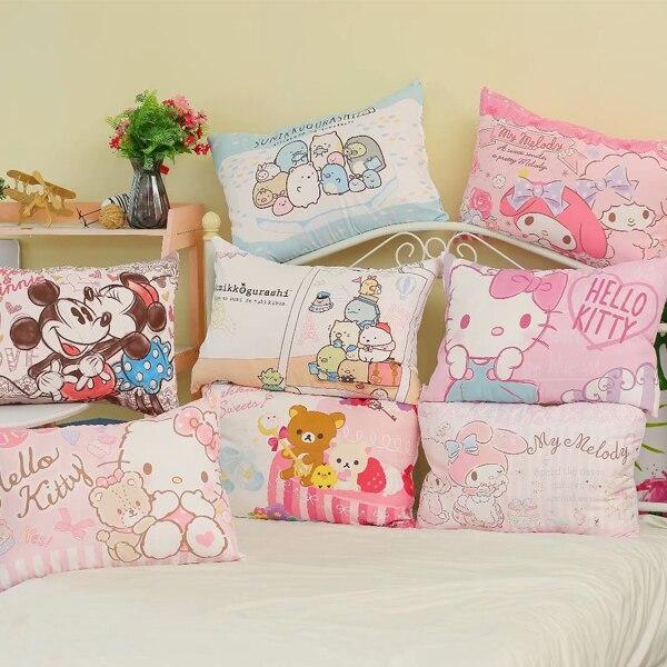 Hello Kitty My Melody Mickey Minnie Rilakkuma Sumikkogurashi Pillowcase Cartoon Student Dormitory Pillow Pillowcase For Children